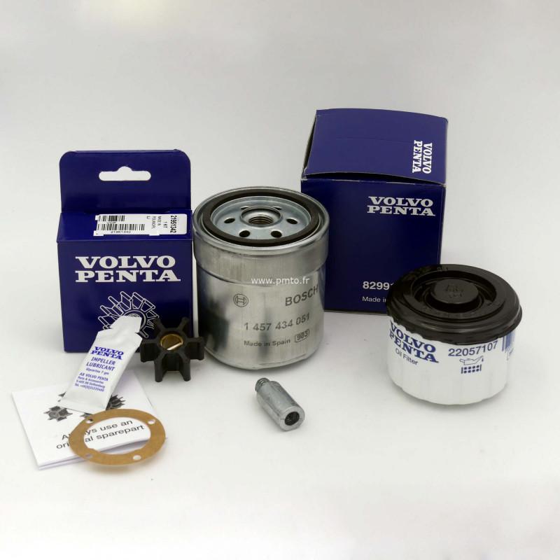 kit entretien filtre huile, carburant, anode, kit impulseur 2001 2002 2003