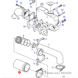 vue éclatée Filtre à air 3580509  pour moteurs D2-50, D2-55, D2-60, D2-75, MD2030, MD2040