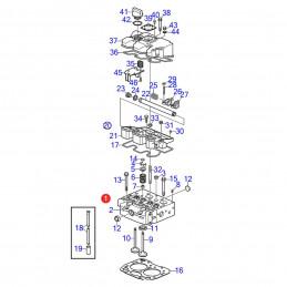 vue eclatee Culasse 3803891 pour moteur Volvo Penta D1-13 Occasion